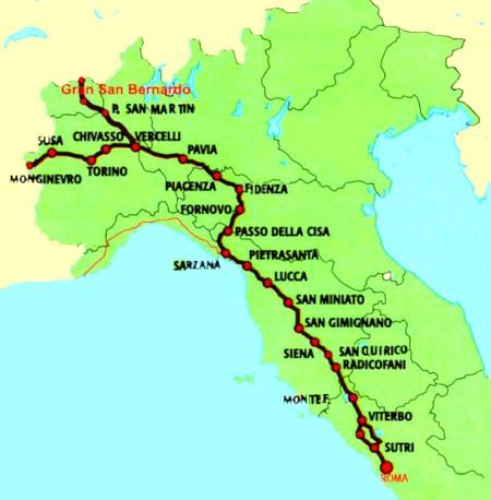 Itinerari della Via Francigena in Italia