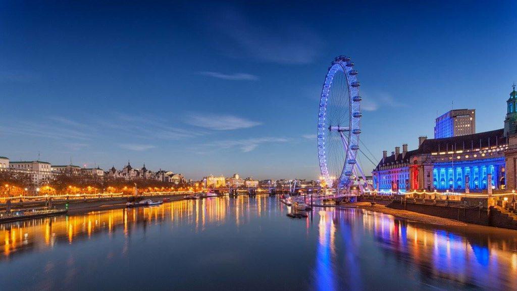 tramonto ruota Londra