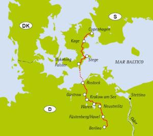 Percorso da Berlino a Copenaghen
