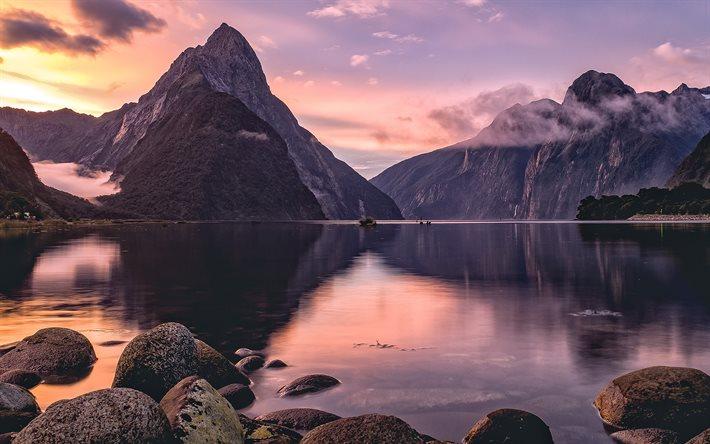 Parco nazionale del Fiordland, tramonto