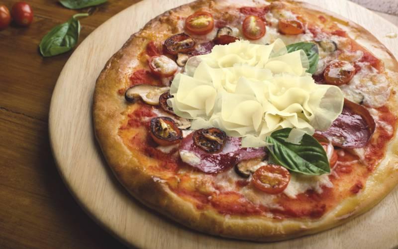pizza con Raspadura