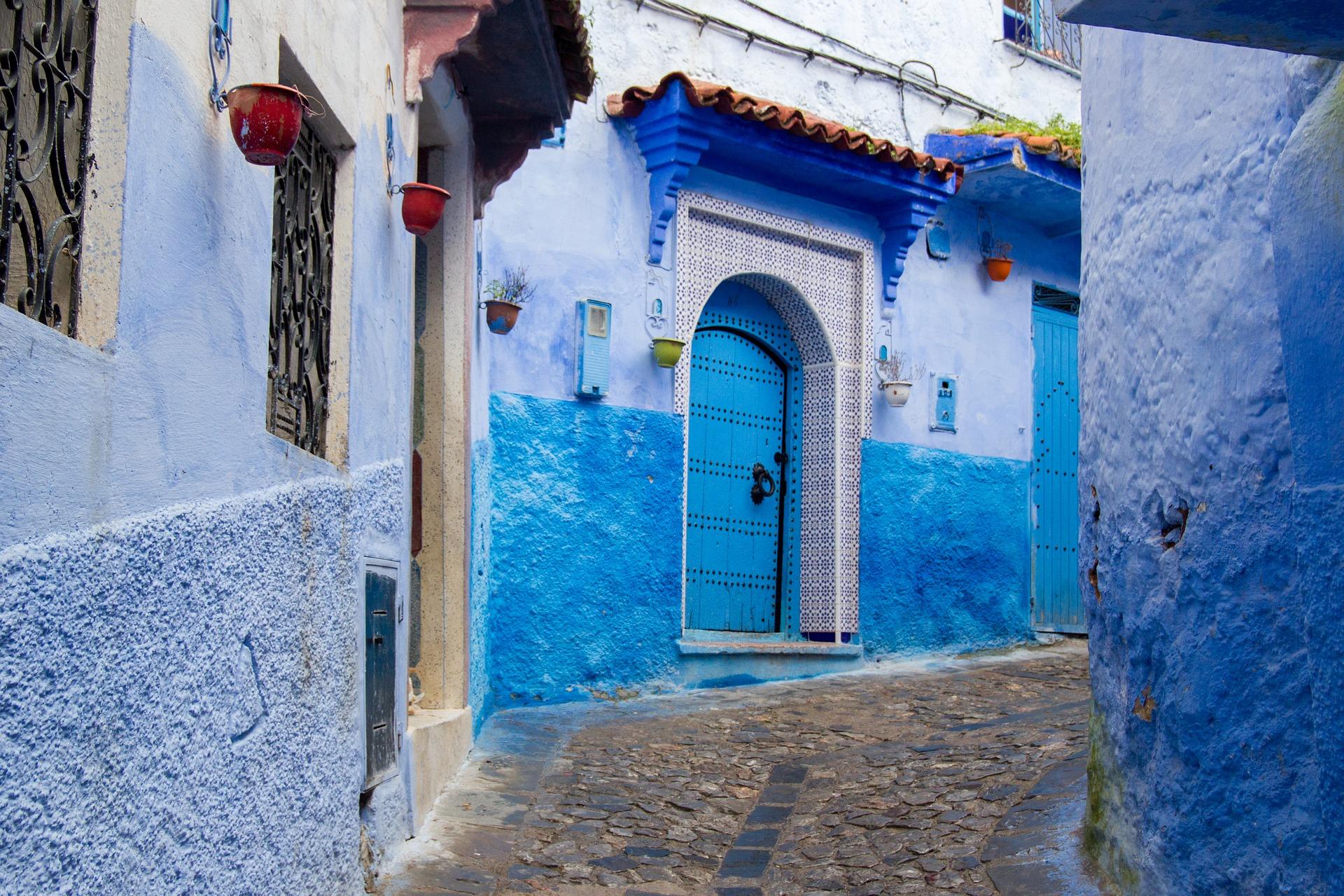 Chefchaouen porta blu