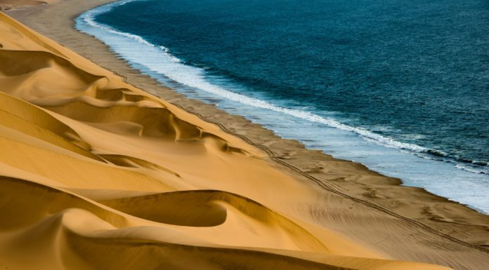 Dune e mare in Namibia