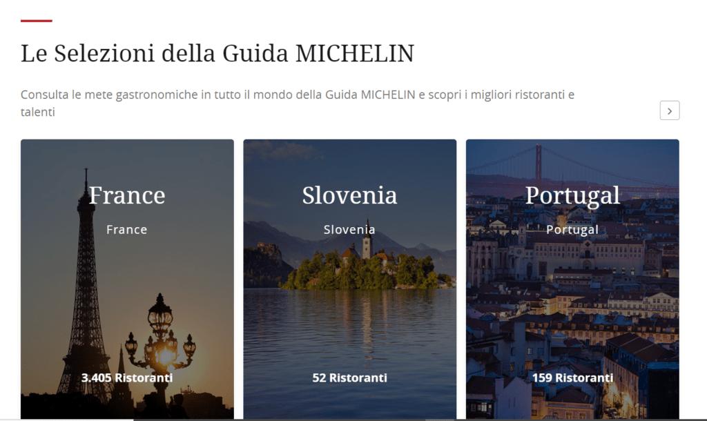 Itinerari del gusto guide Michelin